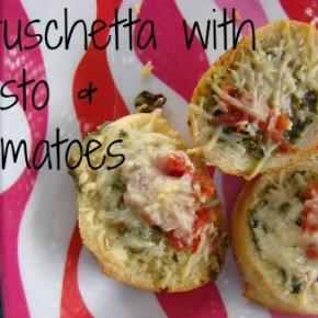 Bruschetta with Pesto & Tomatoes