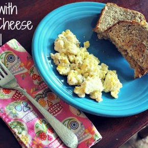 My Favorite Eggs: Goat Cheese + Basil