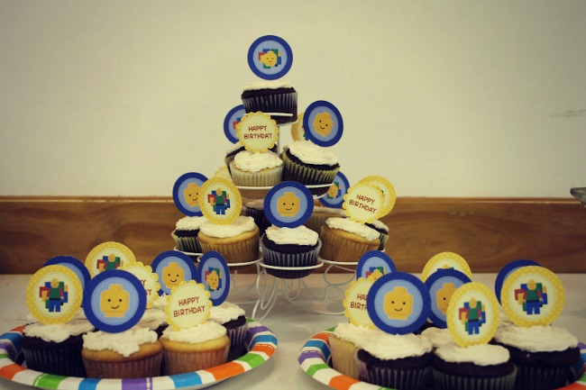 LEGO Party Cupcakes