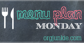 Menu Plan Monday ~ August 18