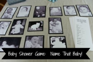 Baby Shower Game Name That Baby