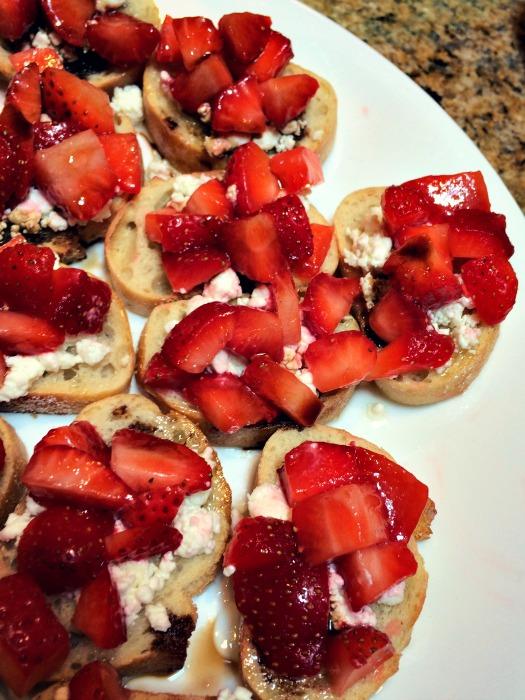 Strawberry Bruschetta Appetizer
