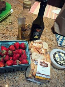 Strawberry Bruschetta Ingredients