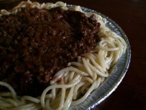 Cincinnati Chili Spaghetti Pie Filling