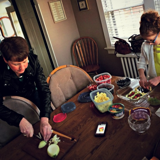 Easter Bunny Fruit Salad Prep
