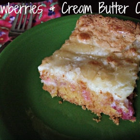 Strawberries & Cream Butter Cake