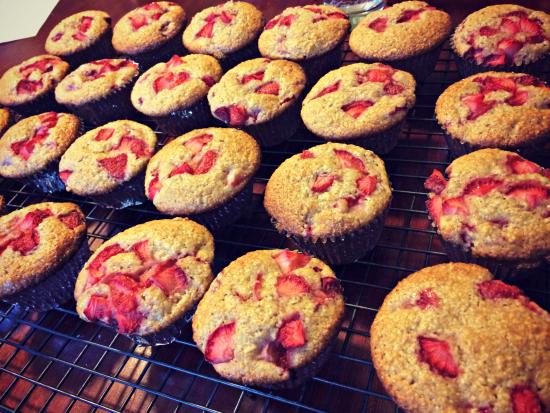 Strawberry Picking 2016 Muffins
