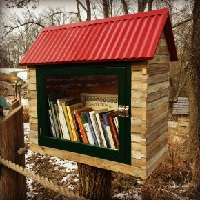 Nature Play Little Library Family Project