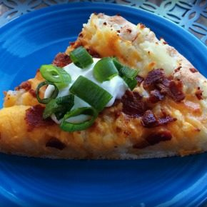 Loaded Baked Potato Pizza Recipe