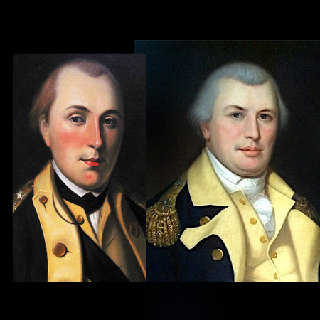 Nathanael Greene and Marquis de LaFayatte are the Two Youngest Generals presented by the Mecklenburg SAR in Charlotte on September 2020.