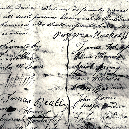 Signing of the Tryon Resolves