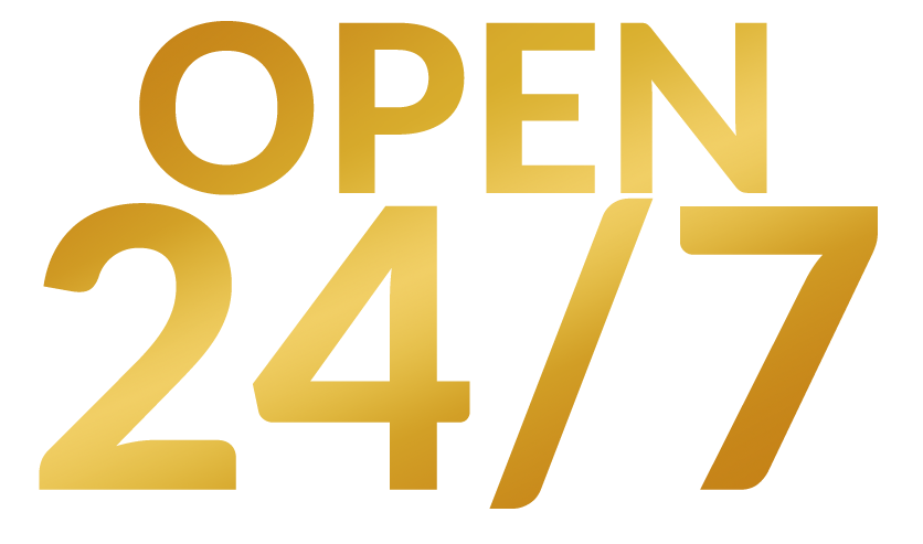 Casino and Restaurant is open 24 hours and 7 days a week!
