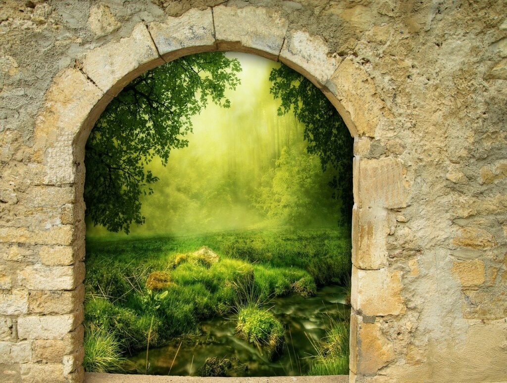 fantasy, gate, arch