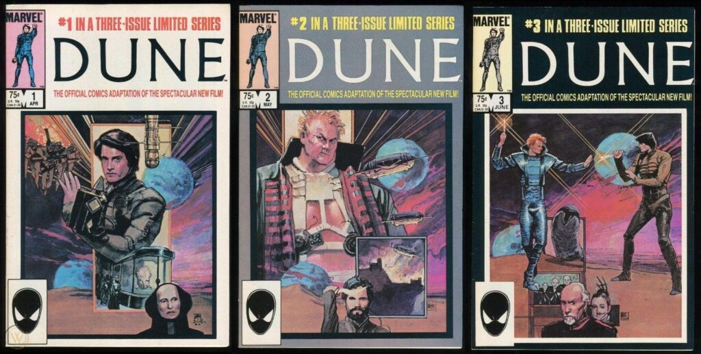 Covers for Marvel Comics's Dune Series