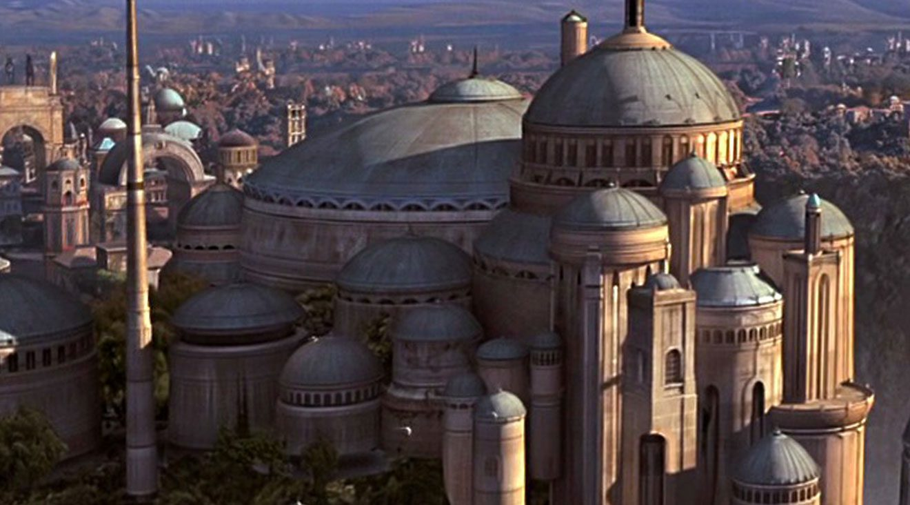 Star Wars architectural style of Naboo