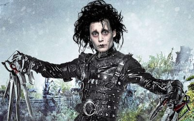 Tim Burton and Johnny Depp team up for the first time in EDWARD SCISSORHANDS.