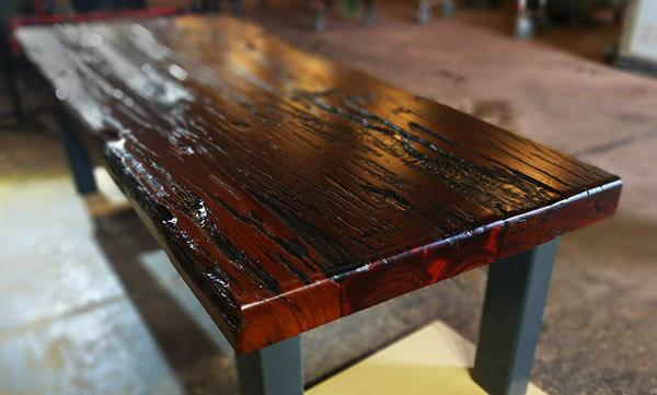 Old Mandurah Bridge Jarrah Sleeper Table