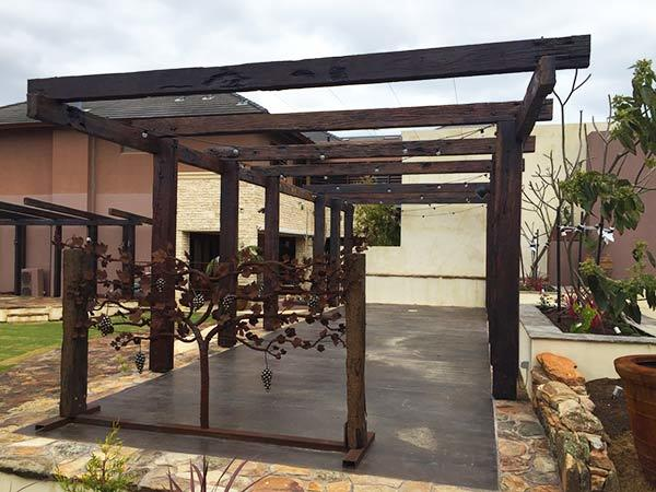 recycled reclaimed jarrah pergola timber perth