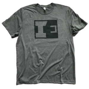 IE Grey T-Shirt Grey Print - Front