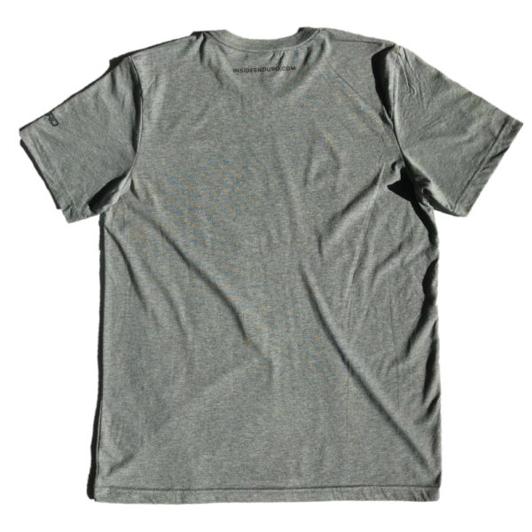 IE Grey T-Shirt with Teal Print - Back
