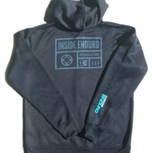 IE Navy Blue Full-Zip Hoodie - Back