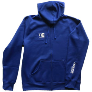 IE Zip Hoodie Royal Blue - Front