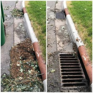 Storm drain cleaning