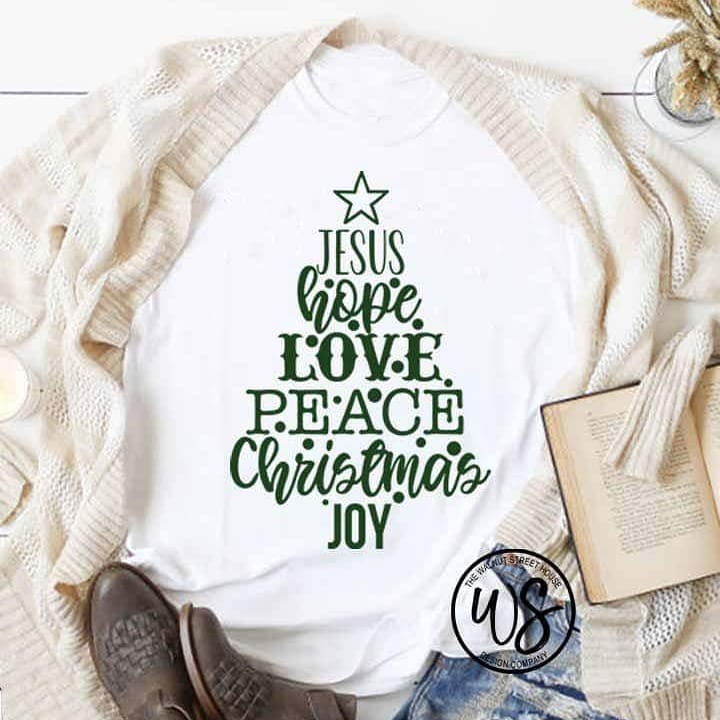 Christmas Tree SVG Stacked Words