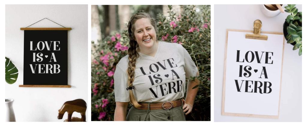 Love is a Verb SVG