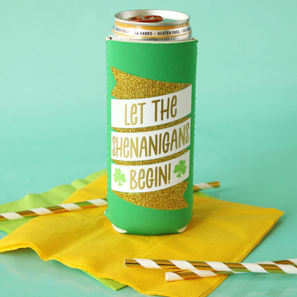 Spot of Tea Designs let the shenanigans begin drink cozy