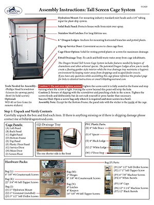 Tall screen cage assembly instructions icon 300x400