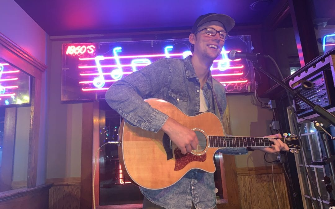 Music: Andrew Dahle at night, no cover