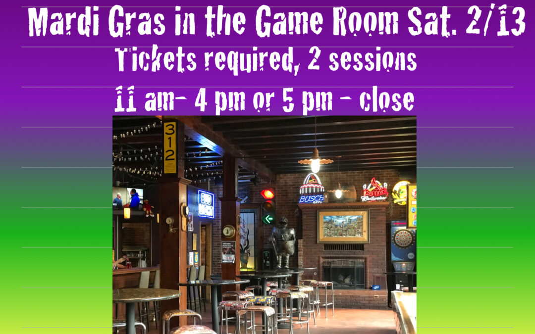 Mardi Gras in the 1860s Game Room!