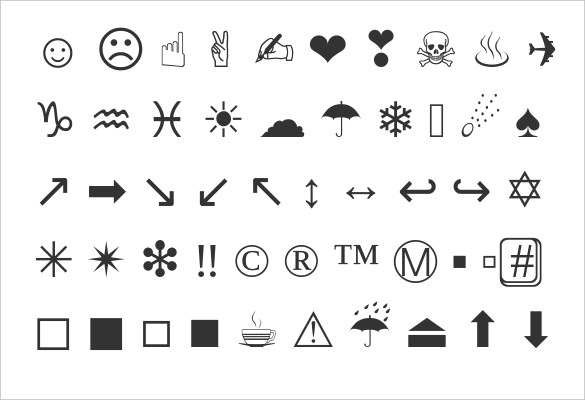 how to use cute symbols and cool emojis