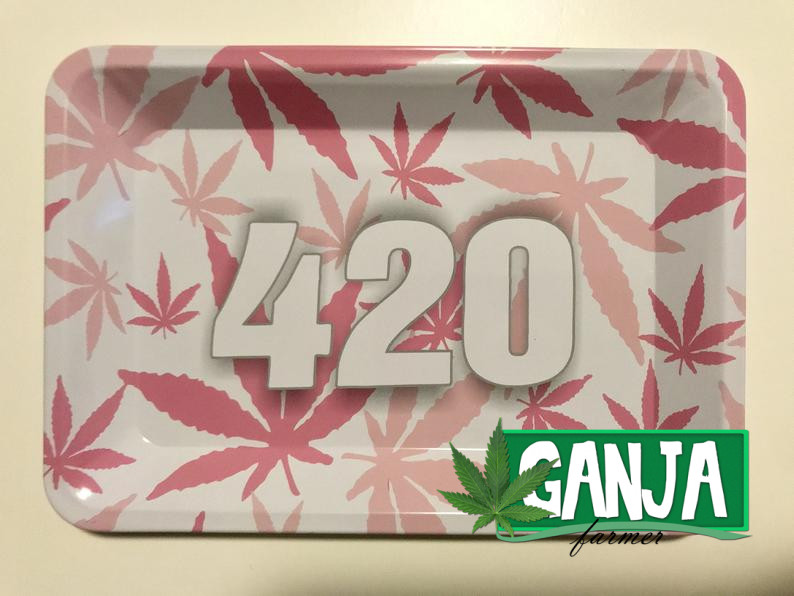 Pink, 420 Rolling Tray – High Quality , Durable , Animated , RAW