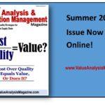 Healthcare Value Analysis