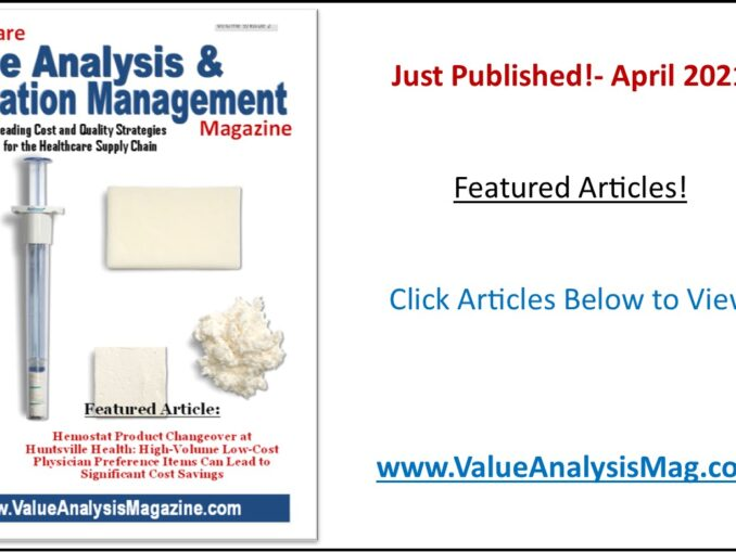 Healthcare Value Analysis & Utilization Management Magazine