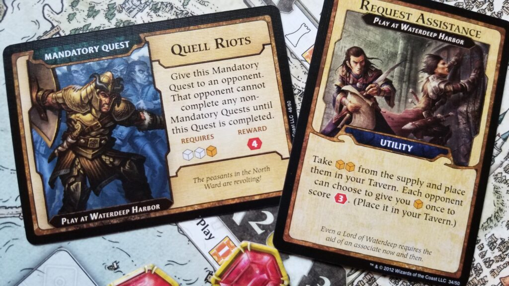 Intrigue cards add a little more strategic depth