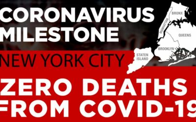 New York City reports first day of zero COVID-19 deaths