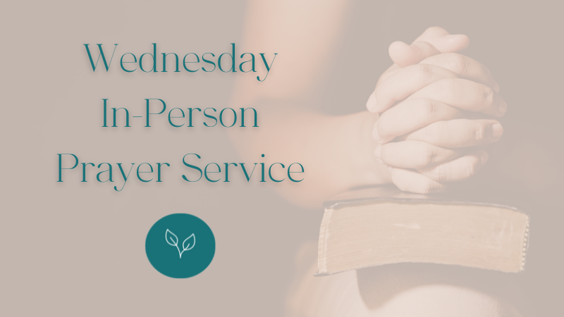 Wednesday In-Person Prayer Service at Central Baptist Church Brantford