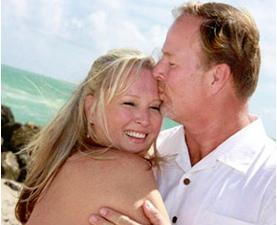 Before their cruise ship wedding on Miami Beach
