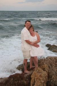 Beach wedding before a cruise