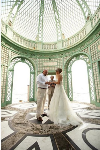 Civil wedding ceremony at Vizcaya