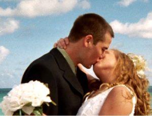 Before a cruise beach wedding