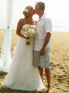 Before a cruise beach wedding ceremony