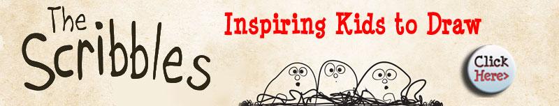 The Scribbles Art inspiring Book for children