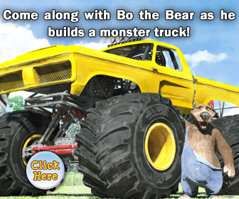 Bo the Bear Builds a Monster Truck Book for Kids