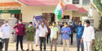 ಶಿವಮೊಗ್ಗ: ಯುವ ಕಾಂಗ್ರೆಸ್ ರಾಷ್ಟ್ರೀಯ ಅಧ್ಯಕ್ಷರ ಕಚೇರಿಗೆ ಪೋಲಿಸ್ ದಾಳಿ ಖಂಡಿಸಿ ಪ್ರತಿಭಟನೆ