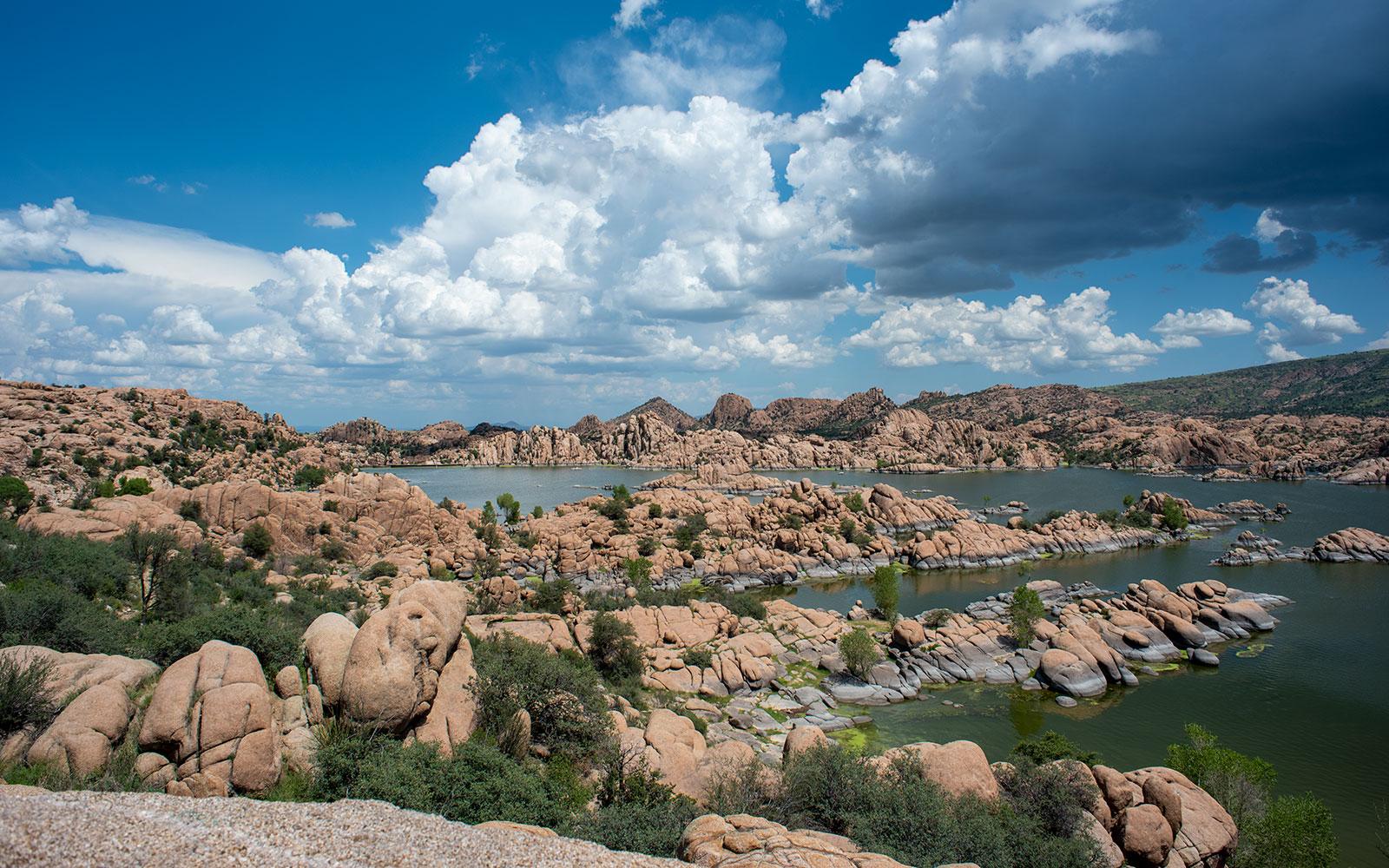 Watson Lake is a reservoir in Arizona's rocky high desert