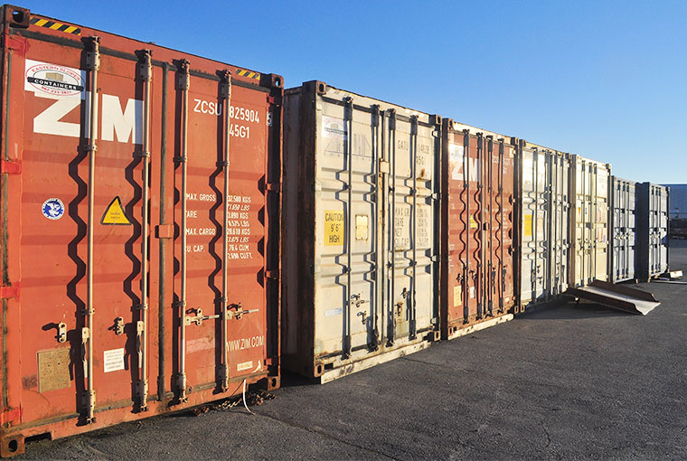 Shipping Container Line up